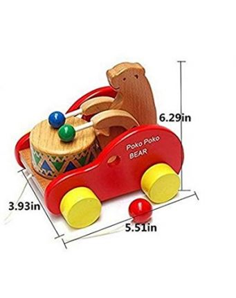 Glamorway Walker Toy Wooden Pull Along Toy reative Educational