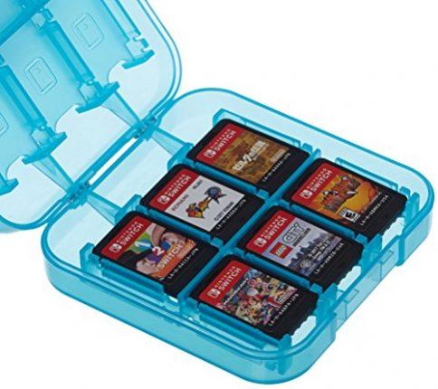AmazonBasics Game Storage Case for Nintendo Switch - Blue