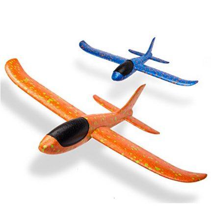 WATINC 2pcs 13.5inch Airplane, Manual Throwing, Fun, challenging,