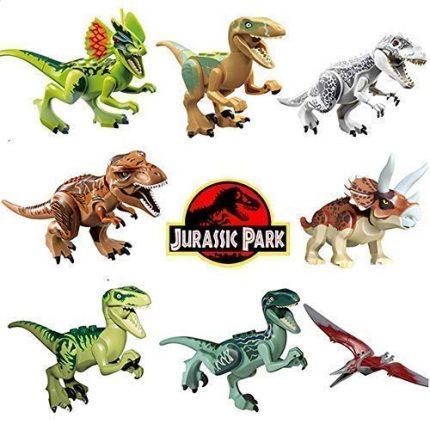 8pcs/lot Dinosaur DIY Assembly Building Blocks Toys Jurassic