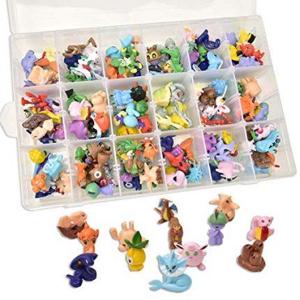 AnyGo Animal Pokemon Mini Action Figures Toys Set Storage for