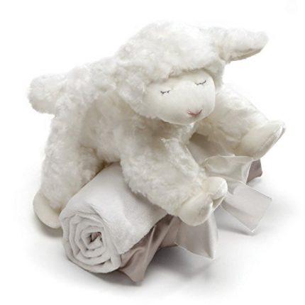 Baby GUND Winky Lamb with White Blanket Stuffed Animal Plush Set