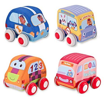 Beebeerun Car Toys Gifts for Toddlers, Kids Pull-Back Vehicle Set
