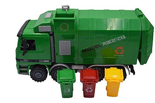 Blomiky 14.5 Inch Large Size Kids Push Toy Vehicles 3pcs trashes