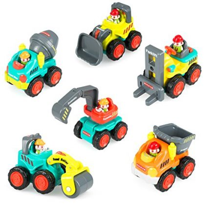 Construction Vehicle Toy Trucks Push and Go Sliding Cars for Baby