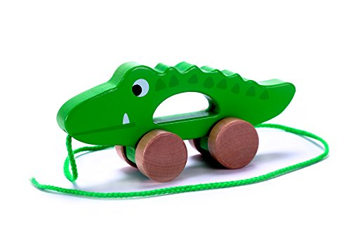 Cubbie Lee Adorable Crocodile Wooden Push & Pull Along Toy for