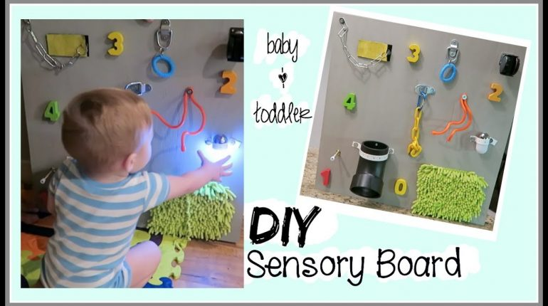 DIY SENSORY BOARD  BABY & TODDLER LEARNING TOY
