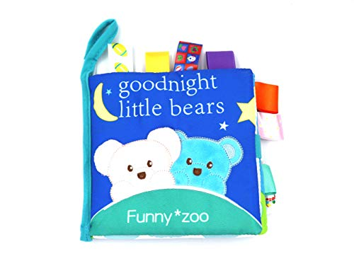 FGen 0-2 Years Old Baby Bear Cloth Book Three-Dimensional Cloth