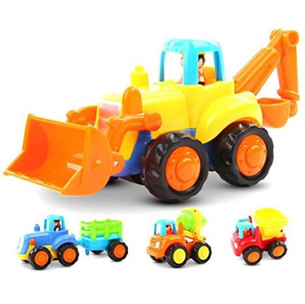 Friction Powered Cars Push and Go Car Construction Vehicles Toys