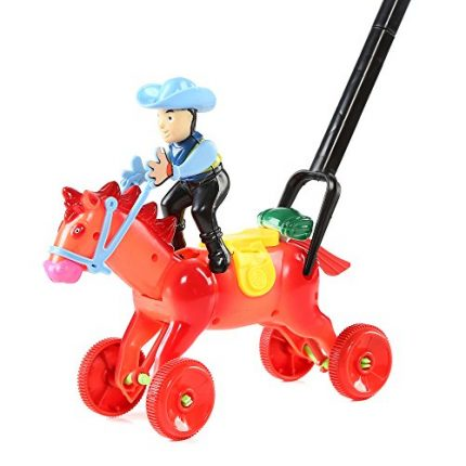 Fun Central BC762, 1 Pc 8 Inches Horse Push Toy, Pushing Toy for