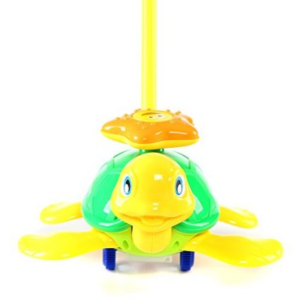 Fun Central BC897, 1 Pc 10 Inches Turtle Push Toy, Pushing Toy