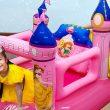 Hana Pretend Play Dress up w/ Inflatable Disney Princess Castle K...