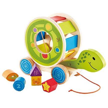 Hape Wooden Shape Sorter Pull Toy - Hape Educational Toys Wooden