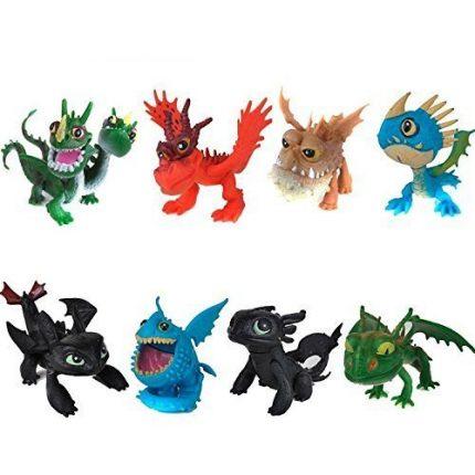 How to Train Your Dragon 8pcs/set 5-6.5cm PVC Action Figures Toy
