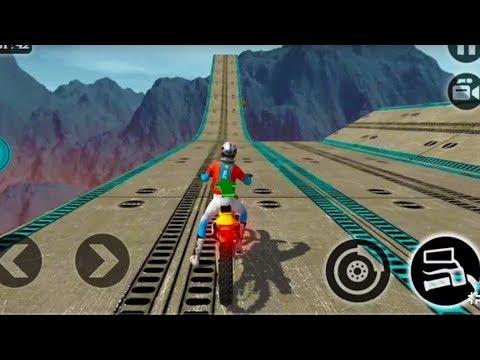 IMPOSSIBLE MOTOR BIKE TRACKS 3D #Dirt Motor Cycle Racer Game #Bik...