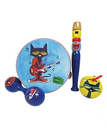 "Kids Preferred Pete The Cat 4 Piece Wooden Instrument Set, 12"""