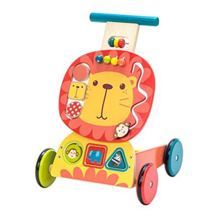 Labebe Wooden Push and Pull Toy, Activity Baby Walker, Toddler