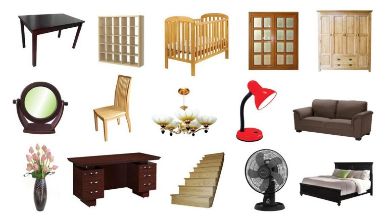 Learn Furniture For Children and Kids - Learn Furniture Names For...