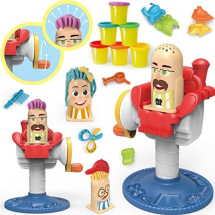 Leoy88 DIY Dough Hairdressing Play Craft Gift Set Children Girl