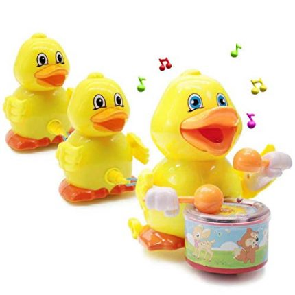 Lydaz Musical Duck Toy, Electric Walking Duck Car Toys, Bump and