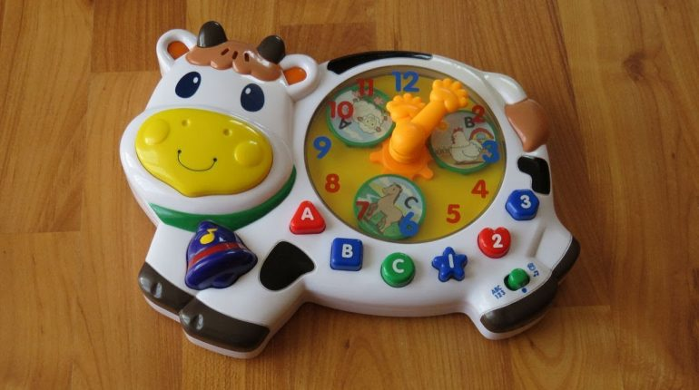 Megcos Musical Activity Clock Baby & Toddler Toy