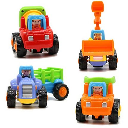 Motrent Baby Toddlers Push and Go Friction Powered Car Toys for