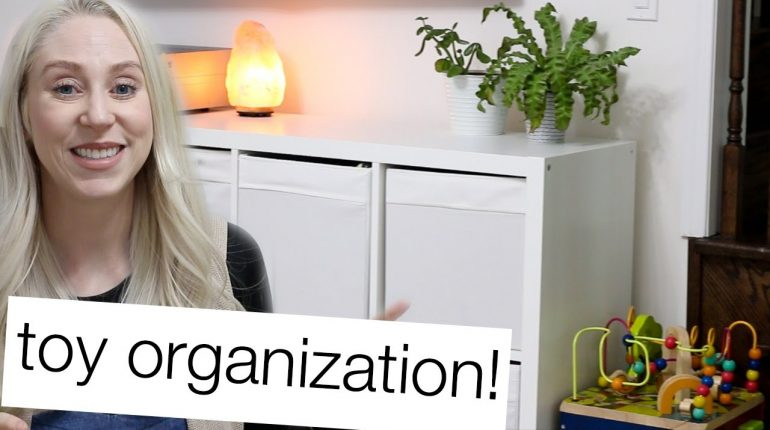 PLAYROOM TOUR | 5 TIPS FOR ORGANIZING TODDLER, BABY + KIDS TOYS!