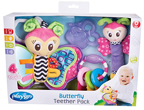 Playgro Butterfly Teether Pack for baby infant toddler children