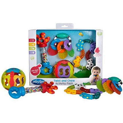 Playgro Twist and Chew Activity Pack for baby infant toddler