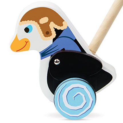 Radical Racers Madcap Penguin Wooden Push-Along Walking Toy by