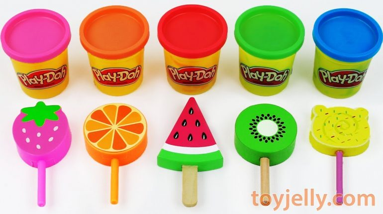 Toy Ice Cream Play Doh Popsicles Learn Colors Baby Toys for Toddl...