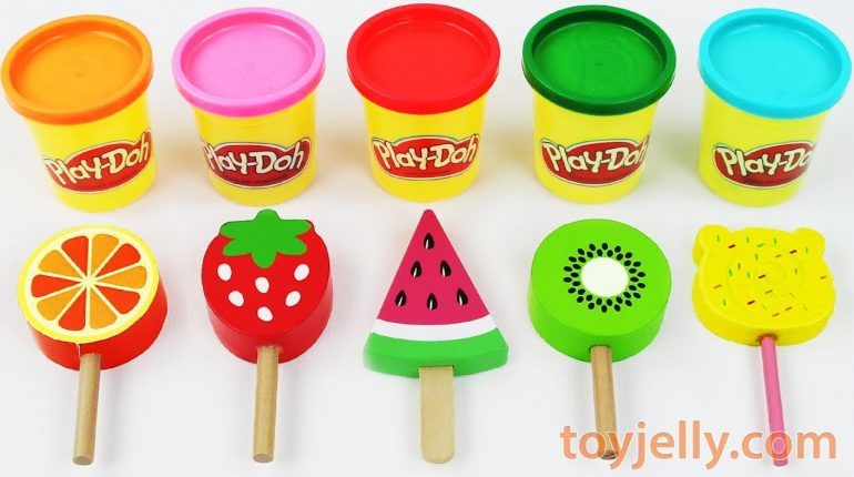 Toy Ice Cream Play Doh Popsicles Learn Colors for Babies Toddlers...