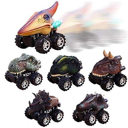 UiiQ Pull Back Dinosaur Cars Animal Dinosaur Vehicles Toys Big