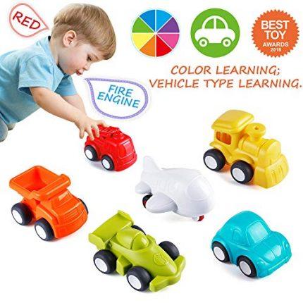 VATOS Toddler Car Toys, 6 Pack Toy Cars Free Wheel, City Traffic