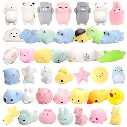 WATINC Random 30 Pcs Cute Animal Mochi Squishy, Kawaii Mini Soft